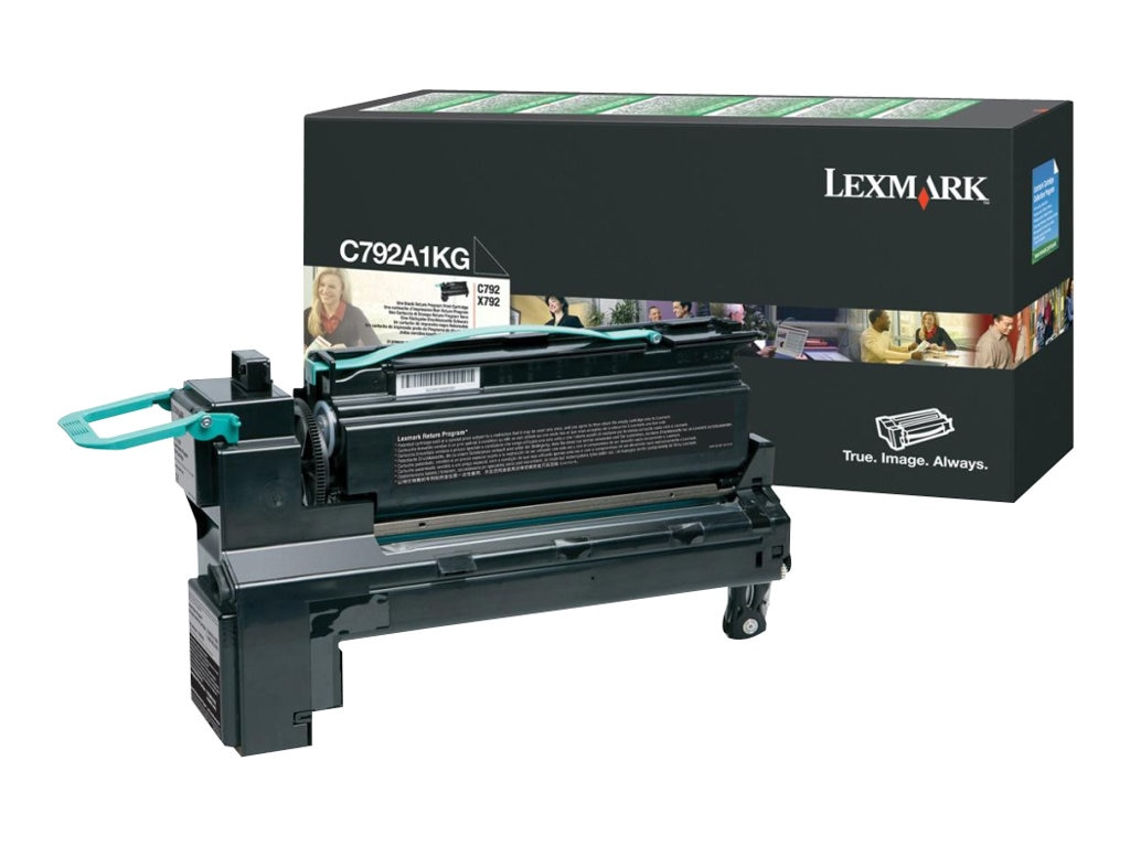 Lexmark Black Return Program Toner Cartridge for C792 & X792 Series, C792A1KG