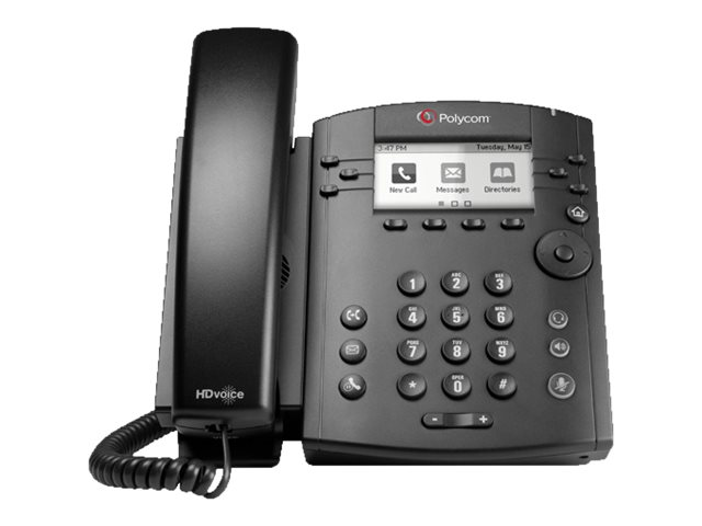 Polycom VVX 301 Phone, Skype for Business, PoE