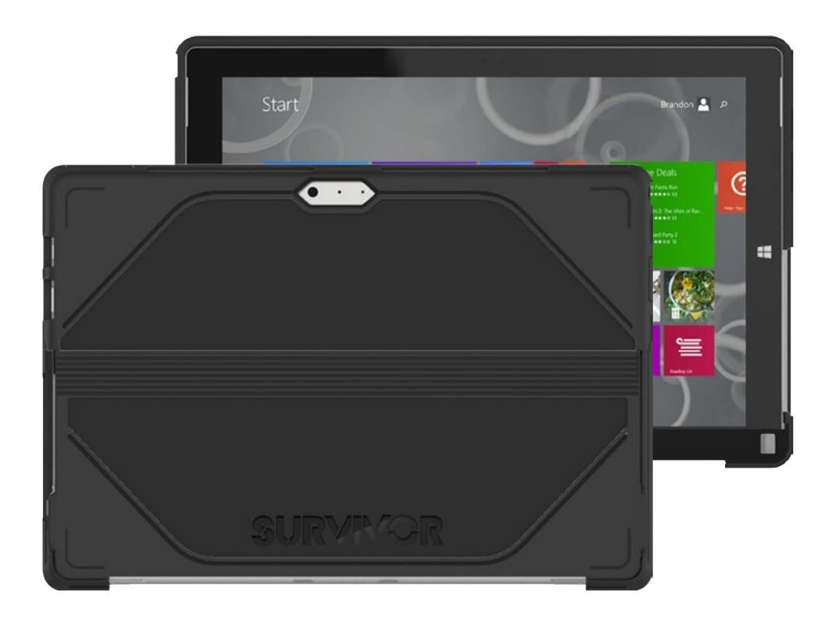 Griffin Survivor Journey for Surface 3 in Black Deep Grey, GB41920, 22428374, Carrying Cases - Tablets & eReaders