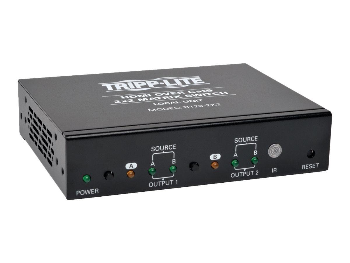 Tripp Lite 2x2 HDMI F F over Cat5 Cat6 Matrix Extender Switch with x2 RJ-45 , TAA, Instant Rebate - Save $15