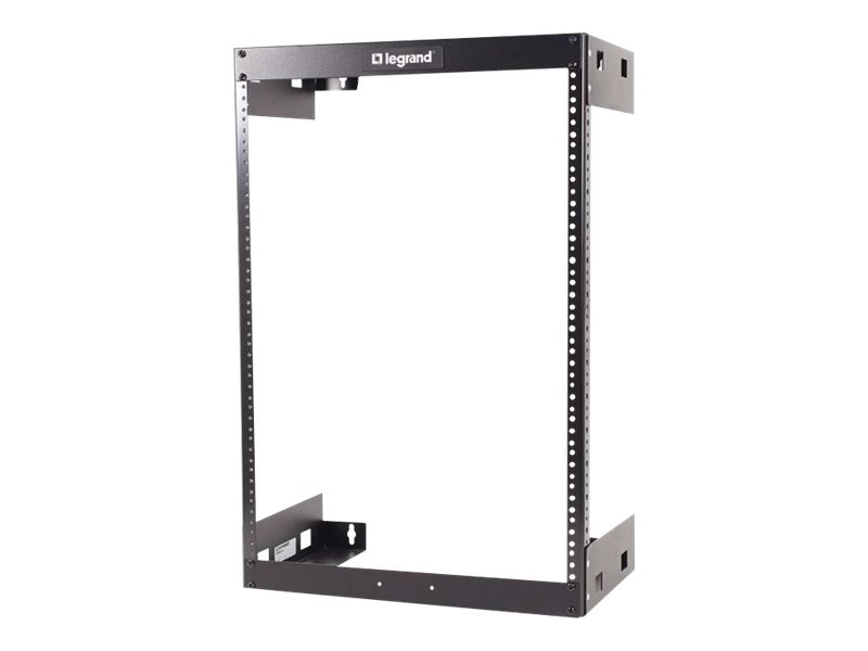 C2G Wall Mount Open Frame Rack, 30U x 12d, 150lb Capacity, Black