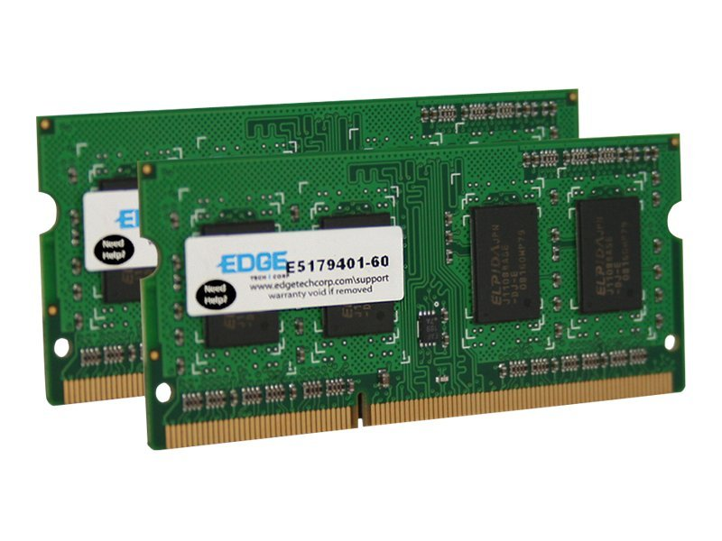 Edge 16GB PC3-10600 204-pin DDR3 SDRAM SODIMM Kit, PE22934402