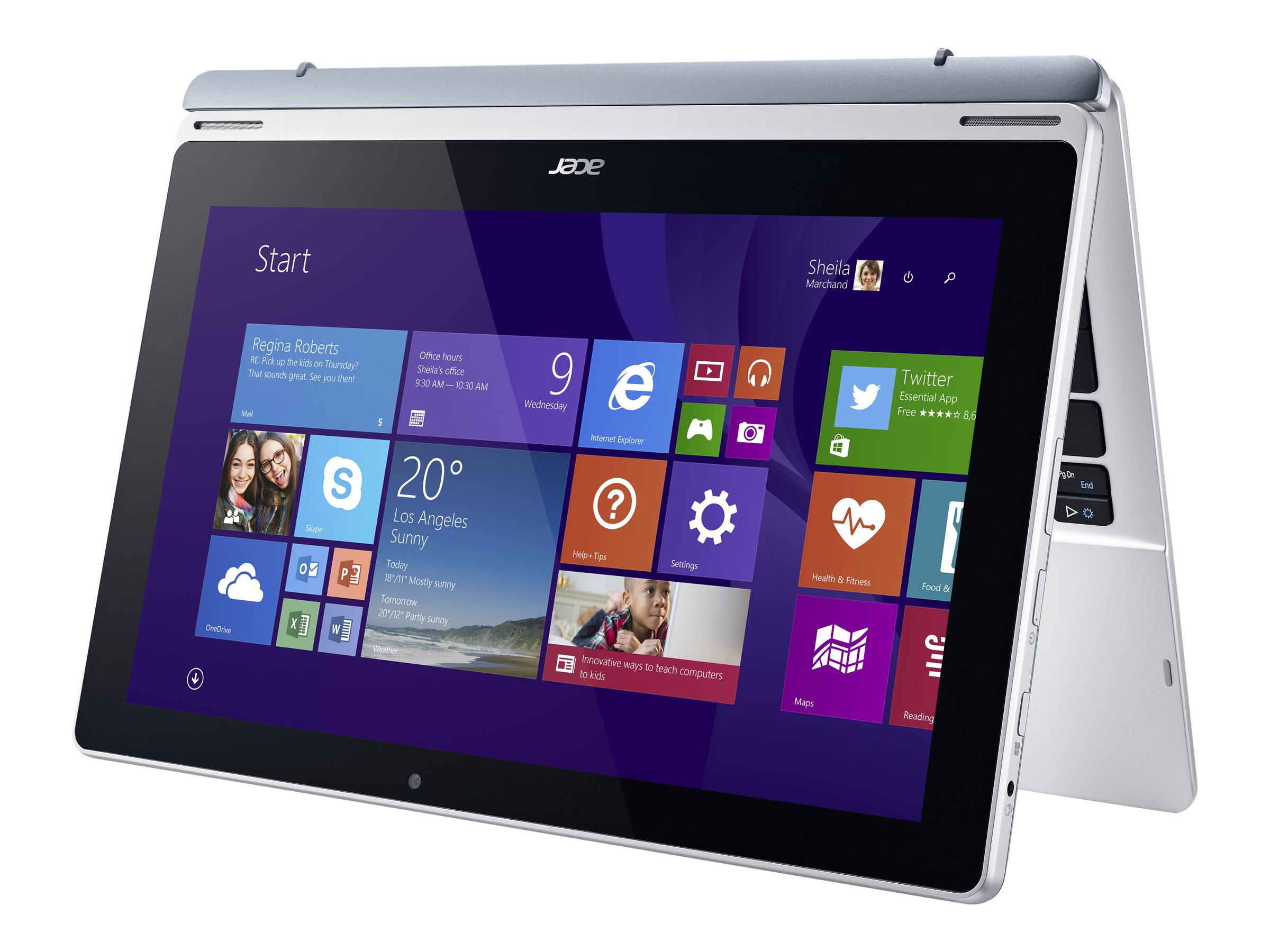 Acer Aspire Switch SW5-171P-82B3 1.6GHz processor Windows 8.1 Pro 64-bit, NT.L6SAA.005, 18180871, Tablets