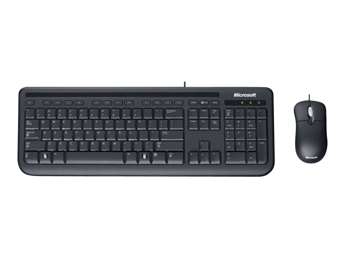 Microsoft Wired Desktop 400 for Business, Keyboard with Basic Optical Mouse, 5MH-00001