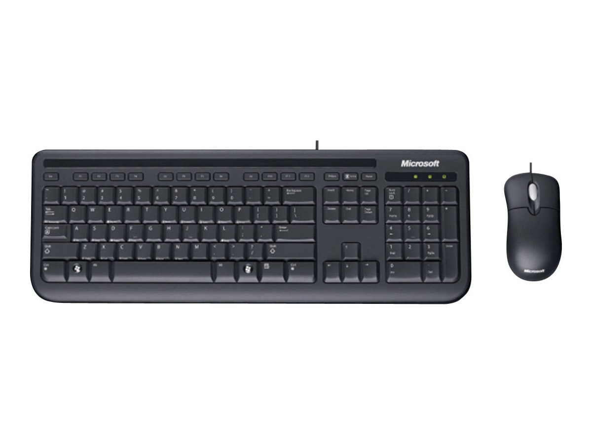 Microsoft Wired Desktop 400 for Business, Keyboard with Basic Optical Mouse