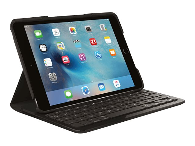 Logitech Focus Protective Case with Integrated Keyboard for iPad Mini 4, Black, 920-007953, 31168383, Carrying Cases - Tablets & eReaders