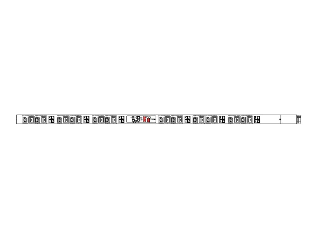 Raritan PDU 34.5kVA 415V 48A 3-ph 0U IEC60309 Input (36) C13 (6) C19 Outlets, PX2-5795U, 18393834, Power Distribution Units