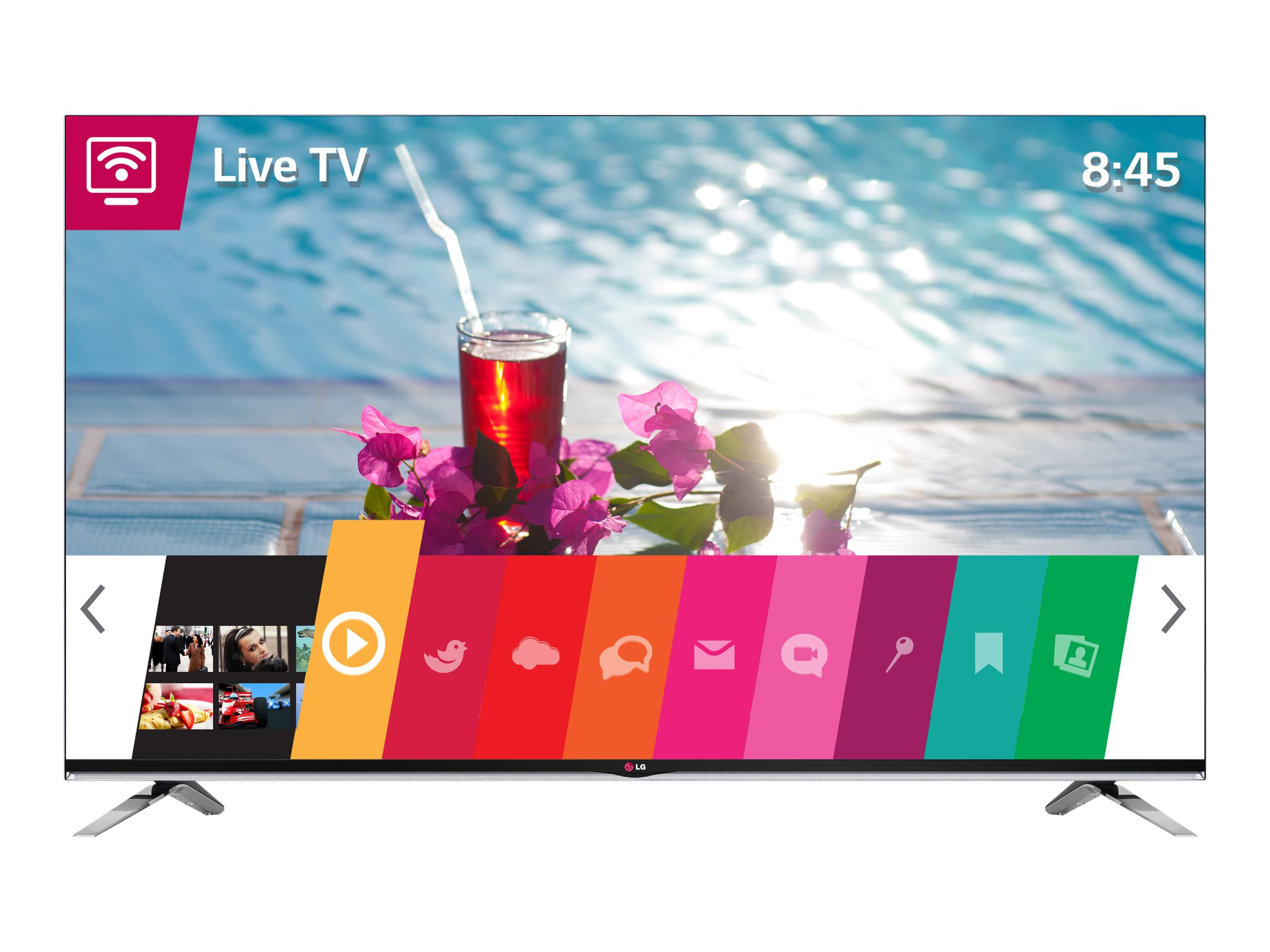 LG 54.6 LY970H Full HD LED-LCD TV, Black, 55LY970H