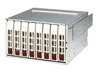 Supermicro Mobile Rack SAS SATA Hard Disk Drive 2x Expander- White (8 x 2.5  trays), CSE-M28E2, 7474170, Hard Drive Enclosures - Multiple