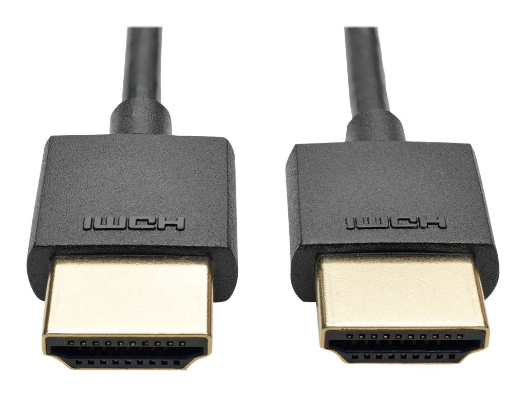 Tripp Lite Slim High-Speed HDMI M M Cable with Ethernet and Digital Video with Audio, 6ft