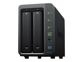 Synology DiskStation DS716+II SAN NAS Server - Intel Celeron N3160 Quad-core 1.60GHz - 2xtotal bays - 2GB, DS716+II, 32152009, Network Attached Storage
