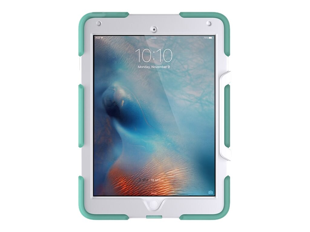 Griffin Survivor Slim for Apple iPad Air 2 & iPad Pro 9.7, Green White, GB41872, 31866923, Carrying Cases - Tablets & eReaders