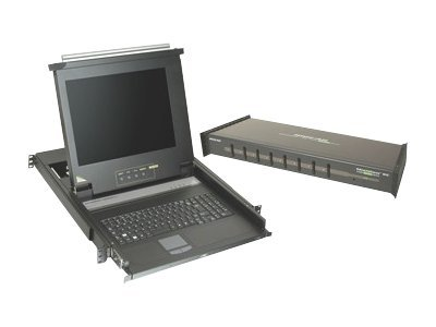 IOGEAR LCD Console Drawer and 8-Port KVM Bundle