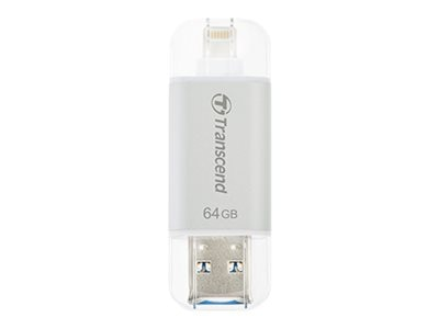 Transcend 64GB JetDrive Go 300 USB 3.1 Lightning Flash Drive, Silver