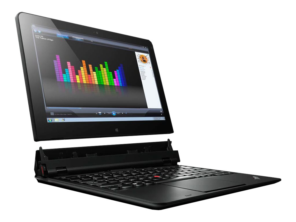Scratch & Dent Lenovo ThinkPad Helix Core M-5Y71 1.2GHz 8GB 256GB SSD ac BT 4G NFC FR 2xWC 2C 11.6 FHD W8.1P64, 20CH0026US, 30984098, Notebooks - Convertible