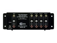 C2G 4-Port Output RCA Audio Video Distribution Amplifier, 41066, 5163212, Video Extenders & Splitters