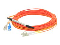 ACP-EP LC-SC 62.5 125 OM1 Duplex LSZH Mode Conditioning, Orange, 1m