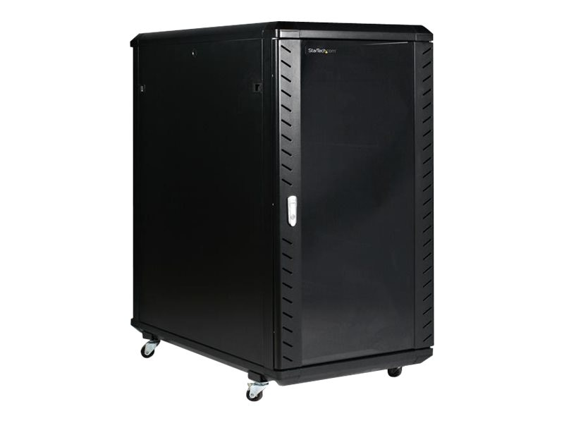StarTech.com 22U 36in Server Rack Cabinet with Glass Door, RK2236BKF, 7133025, Racks & Cabinets