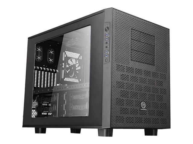 Thermaltake Chassis, Core X9 Cube E-ATX 7x3.5 Bays 3x5.25 Bays 8xSlots Window No PSU, Black, CA-1D8-00F1WN-00, 18489545, Cases - Systems/Servers