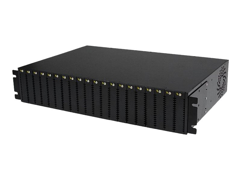 StarTech.com 20-Slot RM Media Coverter Chassis, ETCHS2U, 15121382, Network Transceivers