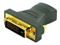 IOGEAR HD Digital Video Adapter Connector, HD (F) to DVI (M), GHDFDVIMW6, 12770467, Cables