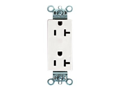 Panduit 20A Rectangular Outlet, White (10-pack)