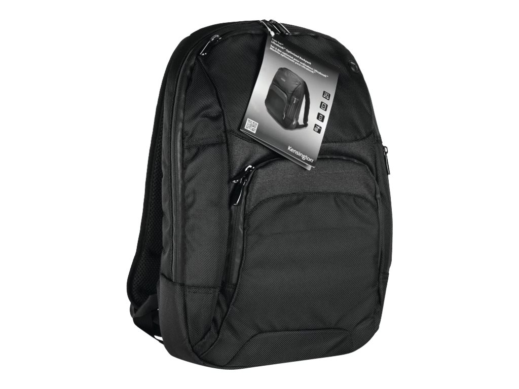 Kensington Triple Trek Backpack for 13 to 14 Ultrabooks, Black, K62591AM, 15570057, Carrying Cases - Notebook