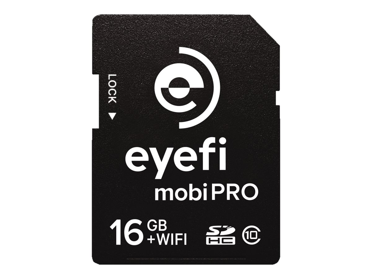 Eye-Fi 16GB Mobi Pro SDHC WiFi Flash Memory Card, Class 10, MOBIPRO-16, 30575542, Memory - Flash