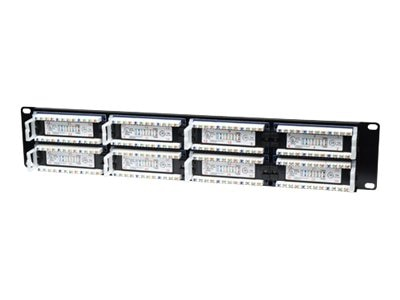 Intellinet 48-Port CAT5E Black Patch Panel ACCS48 Port UTP 2U
