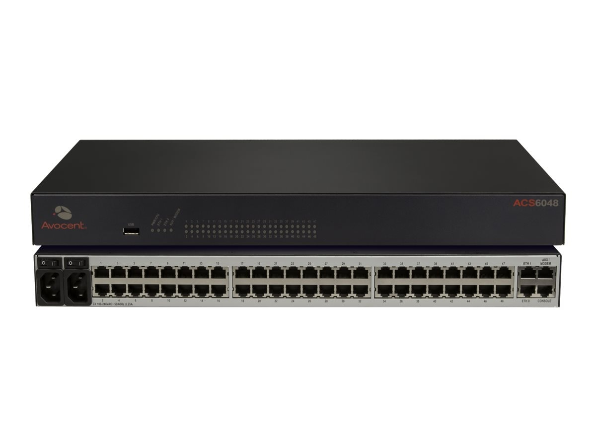 Avocent Cyclades ACS 6000 48-Port Dual AC, ACS6048DAC-G2, 16946722, Remote Access Hardware