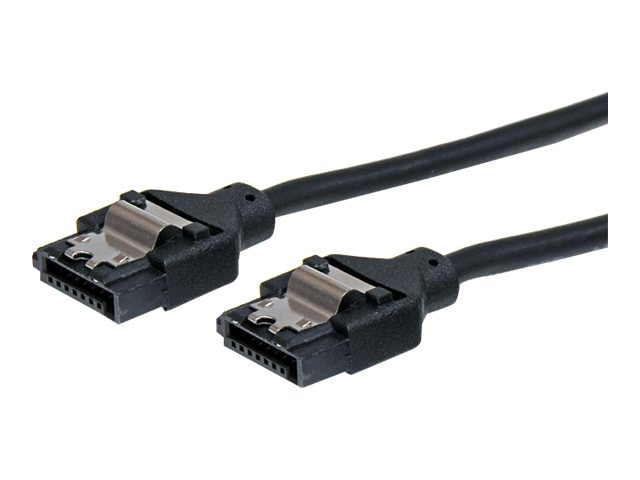 StarTech.com Latching Round SATA Cable, 1ft