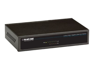 Black Box 5-Port GbE PoE+ Switch