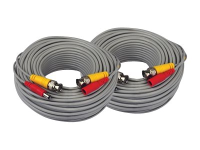 Night Owl BNC Extension Cable with Adapters, 60ft, 2-Pack