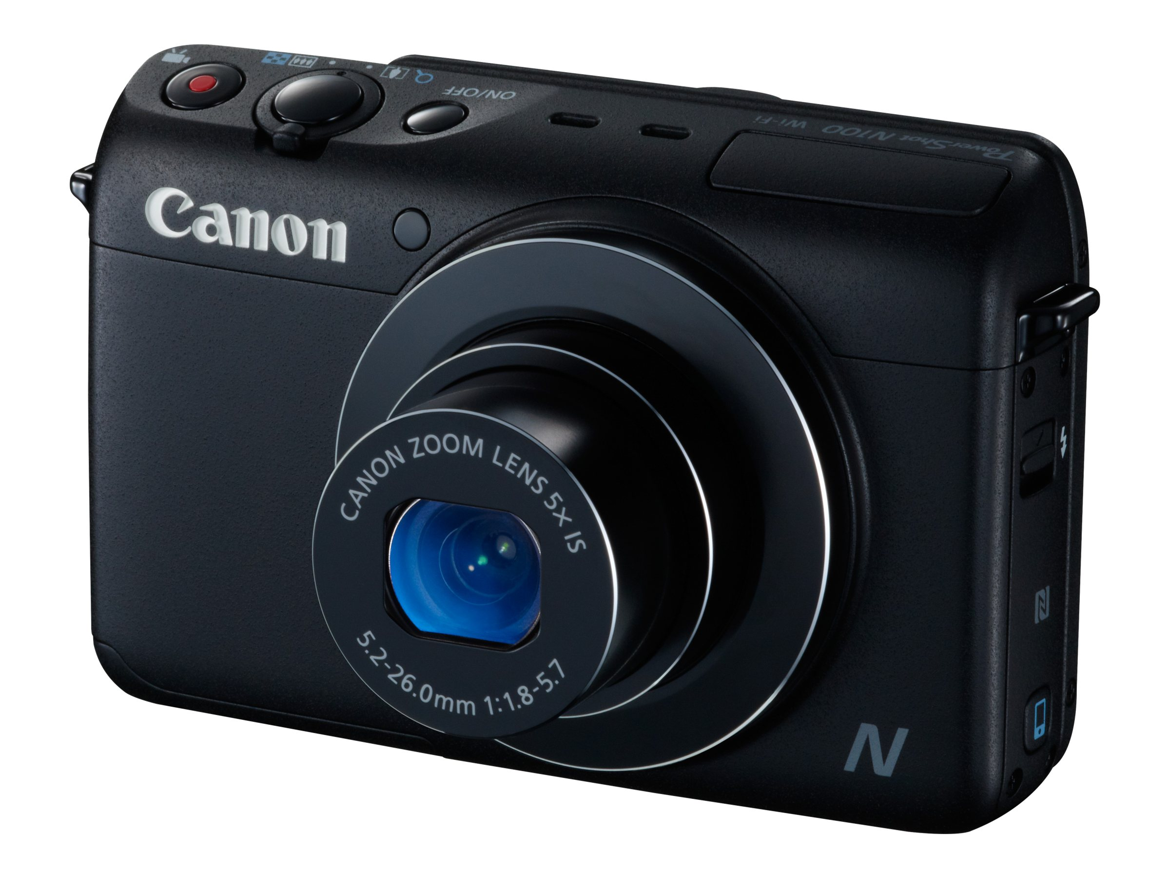 Canon PowerShot N100 Digital Camera, Black, 9168B001, 16683660, Cameras - Digital - Point & Shoot