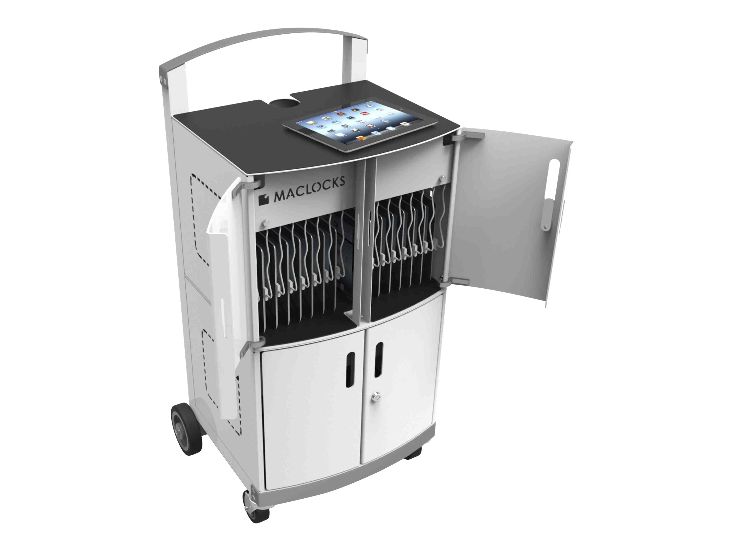 Maclocks 32-Unit Charging Cart for Netbooks Tablets up to 13, CL-DUO, 31260577, Computer Carts