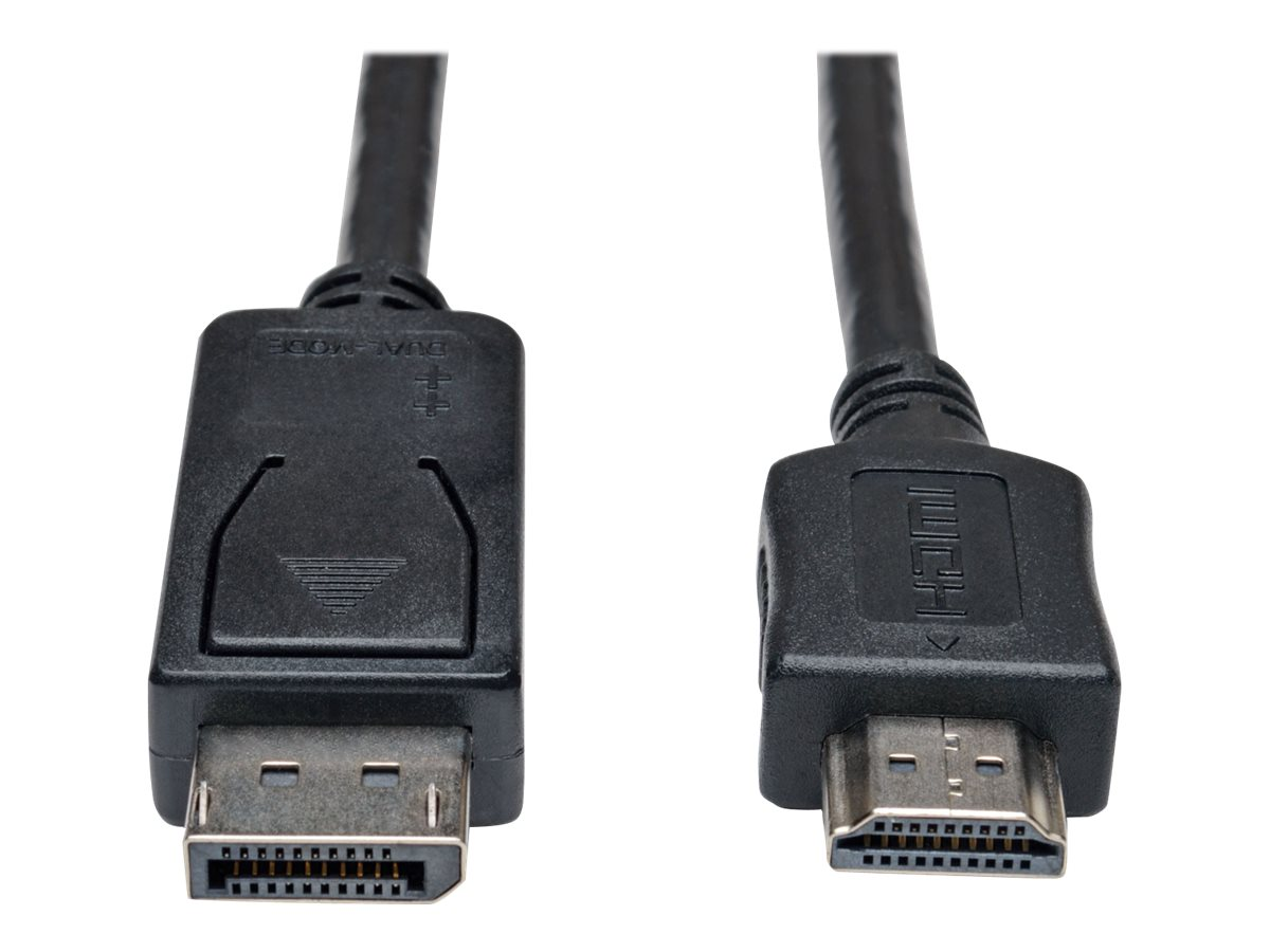 Tripp Lite DisplayPort to HDMI M M 1080p Adapter Cable, Black, 15ft, P582-015, 31659799, Cables