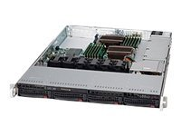 Supermicro SuperChassis 815TQ 1U RM (2x)Intel AMD 4x3.5 HS Bays 1xExpansion Slot 4xFans 600W, CSE-815TQ-600CB, 15274186, Cases - Systems/Servers