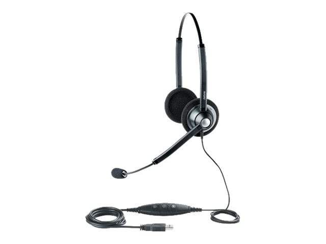 Jabra GN1900 USB Binaural Noise-Cancelling Headset, VoIP, 1989-829-107, 9895904, Headsets (w/ microphone)