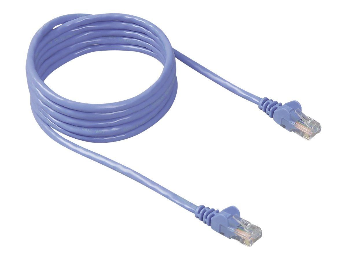 Belkin Cat5e Patch Cable, Blue, 40ft, Snagless, A3L791-40-BLU-S, 113403, Cables