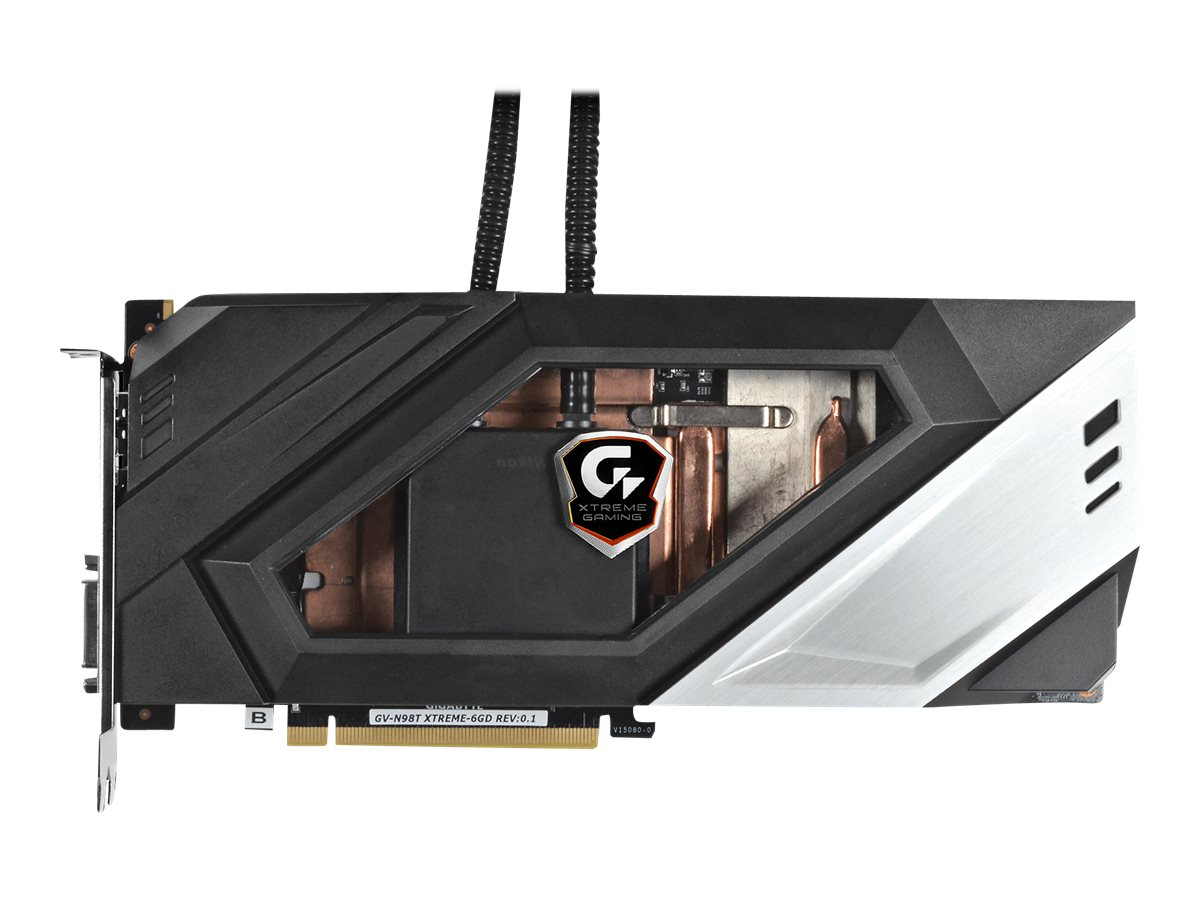 Gigabyte Tech GeForce GTX 980 Ti PCIe 3.0 Overclocked Graphics Card, 6GB GDDR5, GV-N98TXTREME W-6GD, 30954163, Graphics/Video Accelerators