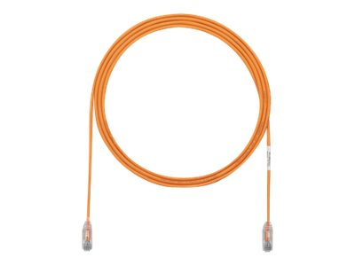 Panduit Cat6e 28AWG UTP CM LSZH Copper Patch Cable, Orange, 24ft