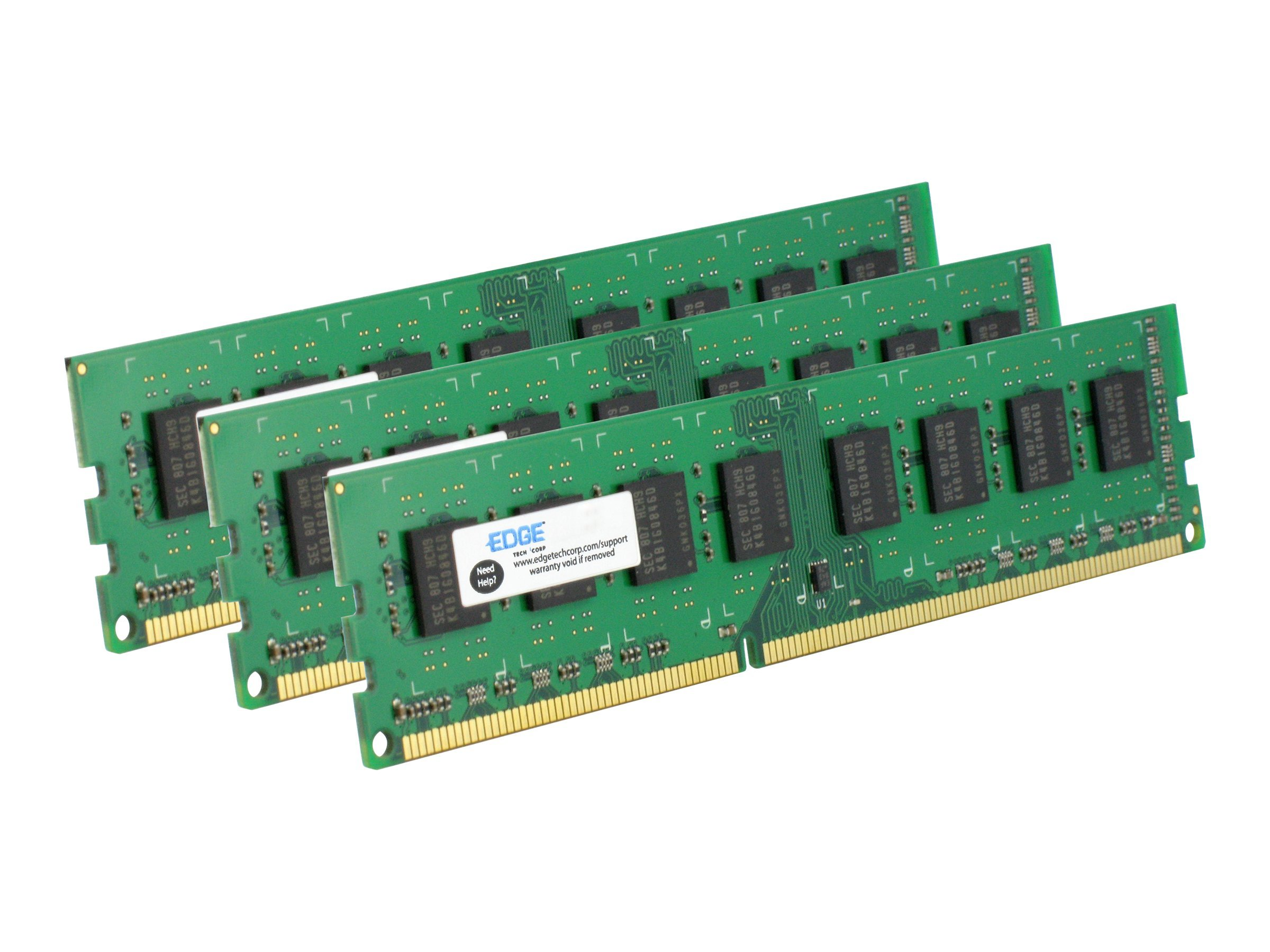 Edge 3GB PC3-10600 240-pin DDR3 SDRAM UDIMM Kit, PE21571203, 31454179, Memory