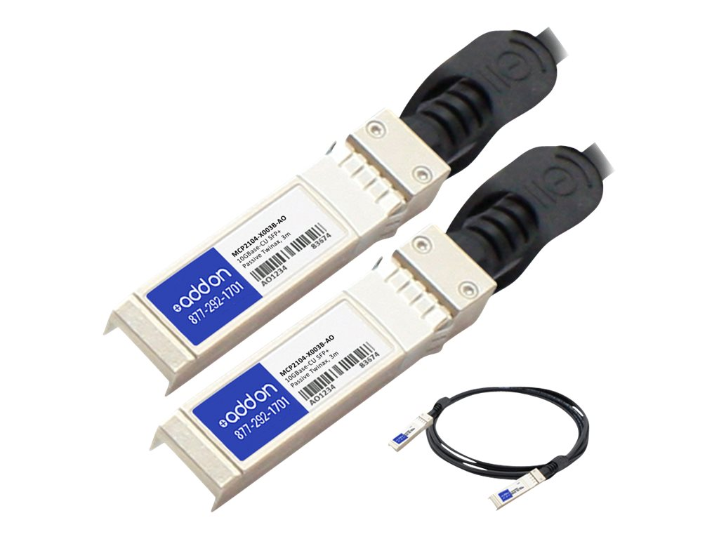 ACP-EP 10GBase-CU SFP+ to SFP+ Passive Twinax Direct Attach Cable, 3m, MCP2104-X003B-AO