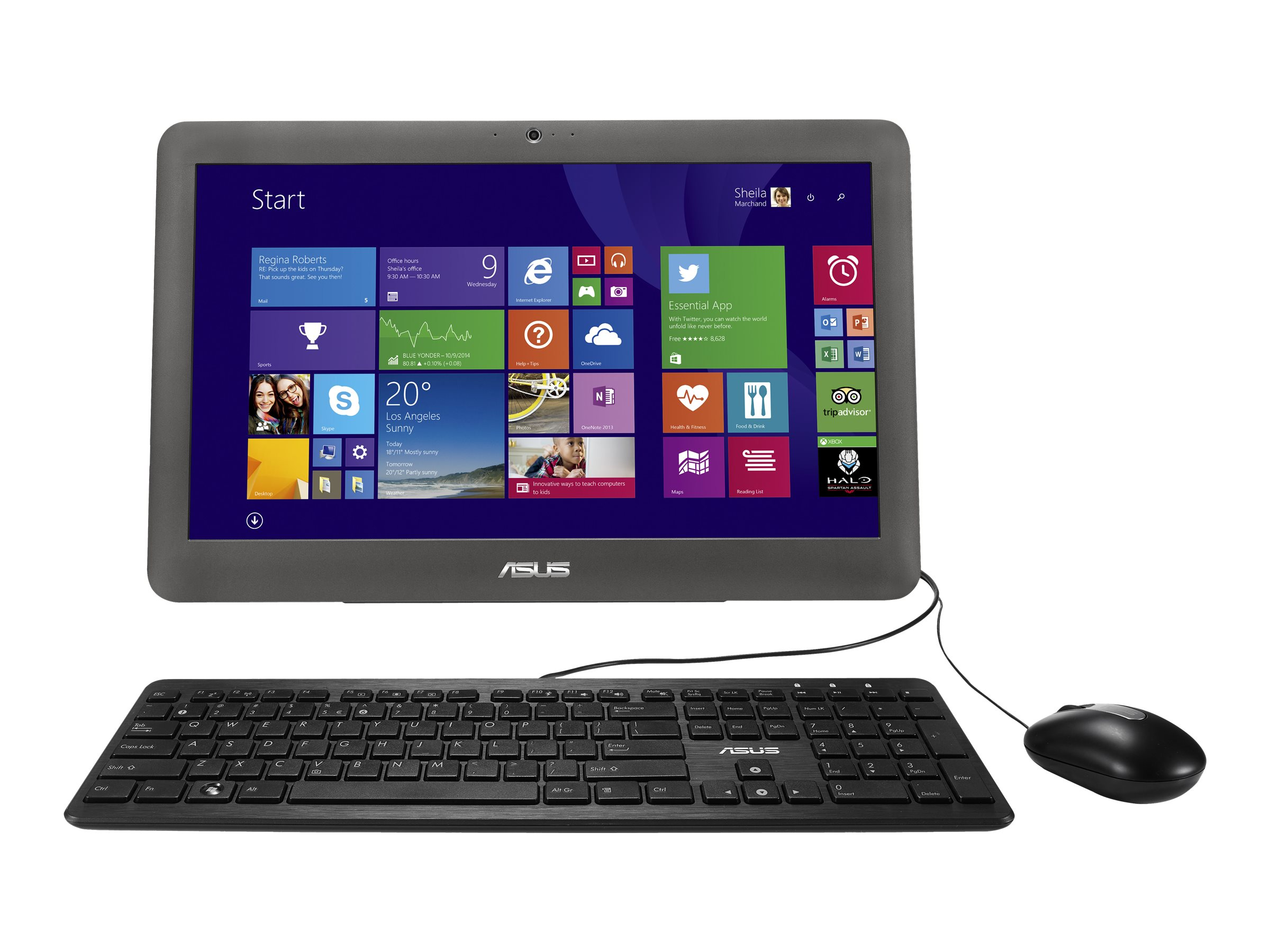 Asus ET2040IUK-C1 AIO 19.5 HD, ET2040IUK-C1, 18767242, Desktops - All-in-One