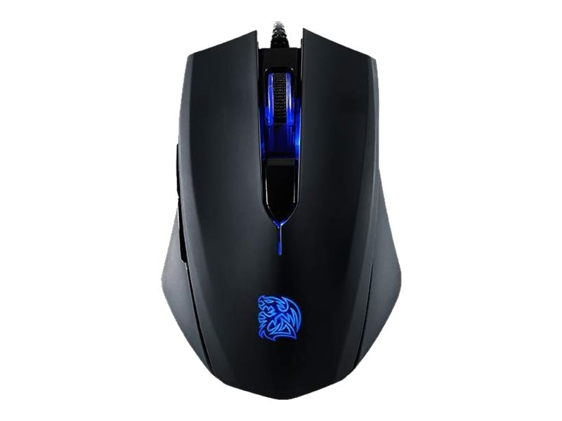 Thermaltake Talon Blue Gaming Mouse, 3000dpi, Blue LED Lighting Accents, MO-TLB-WDOOBK-01, 18511749, Mice & Cursor Control Devices