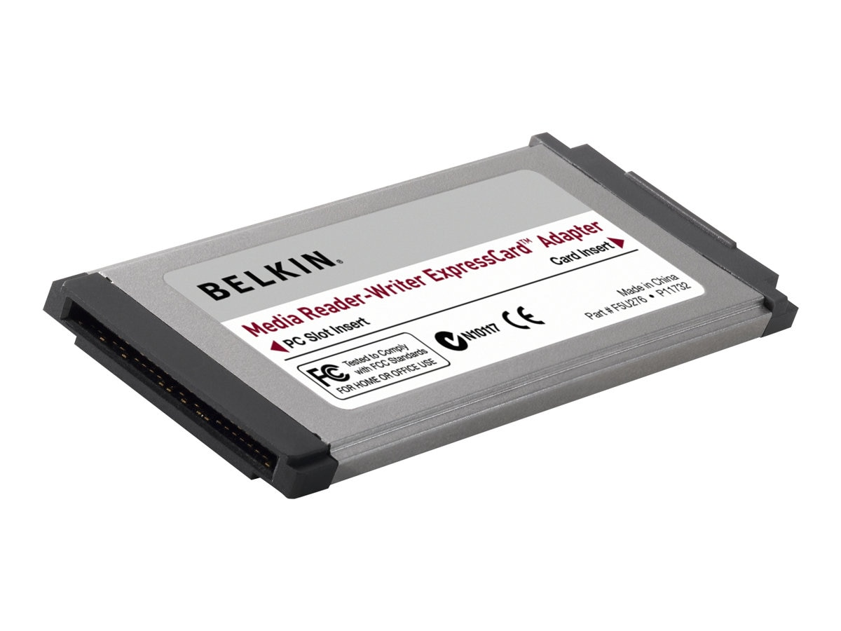 Belkin Express Card Media Reader Adapter, F5U276-APL, 9979999, PC Card/Flash Memory Readers