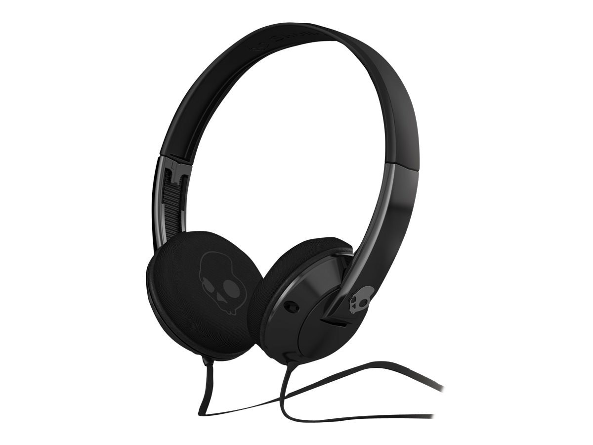Skullcandy UpRock On-Ear Headphones w  Mic - Black Black, S5URDY-003, 19508285, Headsets (w/ microphone)