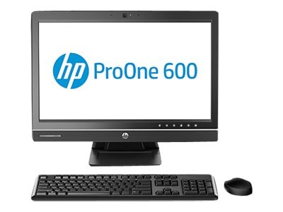 HP Smart Buy ProOne 600 G1 AIO Core i5-4590S 3.0GHz 4GB 500GB DVD+RW GbE abgn WC 21.5 HD W7P64-W10P, P0D19UT#ABA, 28184981, Desktops - All-in-One