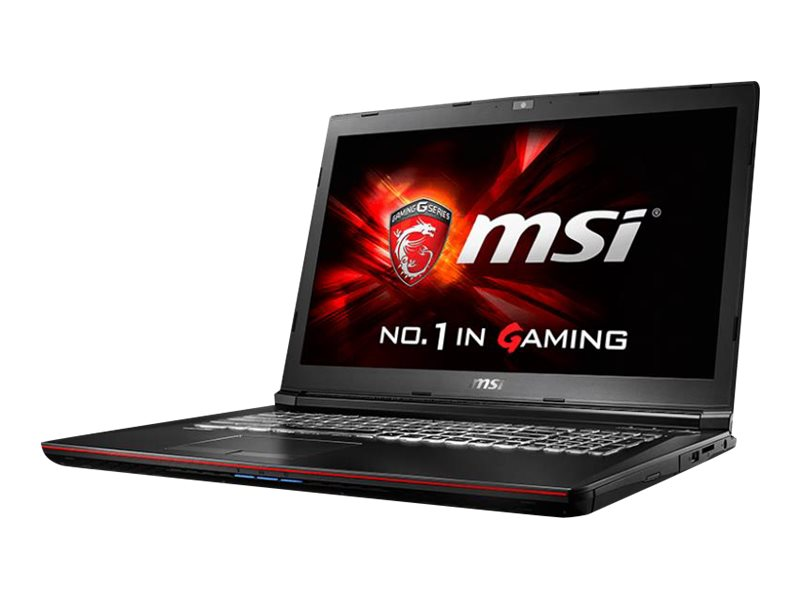 MSI GP72 Leopard Pro-495 Core i7-6700HQ 2.6GHz 16GB 256GB SSD DVD SM BT GNIC WC 6C GTX960M 17 FHD W10