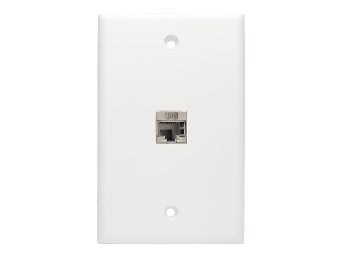 Tripp Lite Cat6a Straight-Through Modular Shielded In-Line Snap-In Coupler w  90-Degree Down-Angled Port, N235-001-SH-6AD